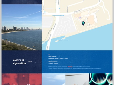 Site Info Layout real estate web design web branding ui ux