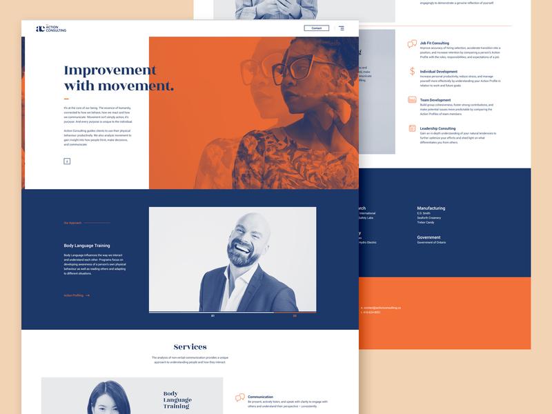 AC Website web branding brand ux ui typography webdesign toronto
