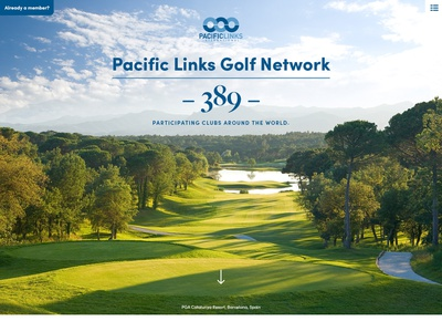 Global Golf Network Website uidesign ux website web design golfing golf