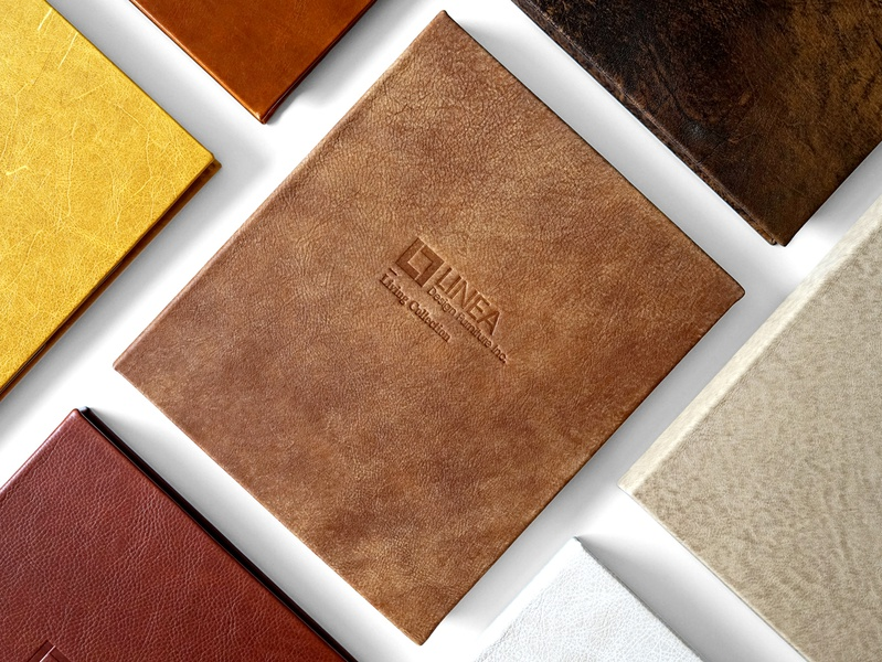 Furniture Catalogue embossing branding book catalog leather