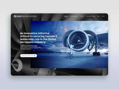 Aerospace Site toronto web design ux ui airport mechanic aerospace airplane