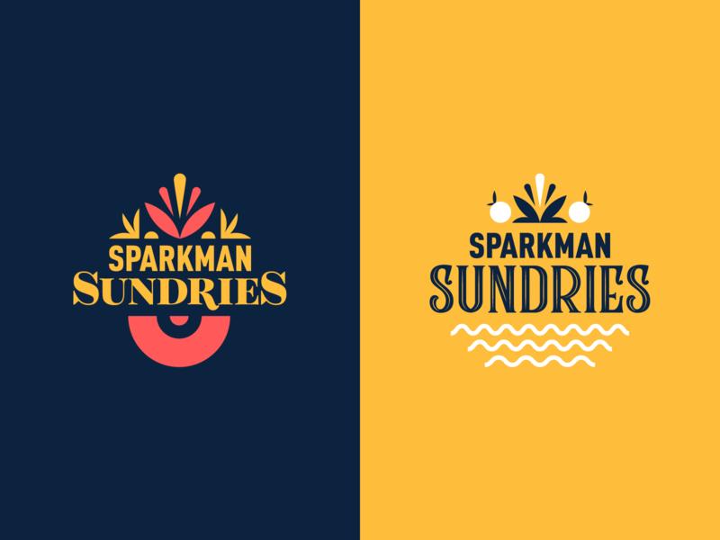 Sundries Exploration toronto lettering vector illustration branding typography logo