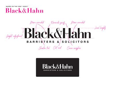 Black&Hahn Branding toronto lettering vector branding typography logo