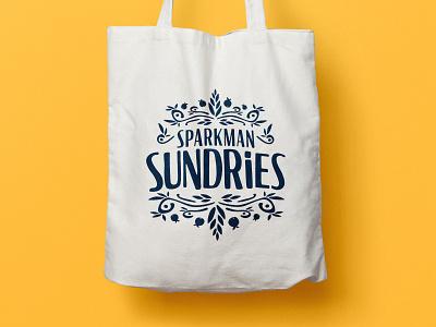 Sparkman Sundries drawing brand toronto lettering design vector illustration branding typography logo