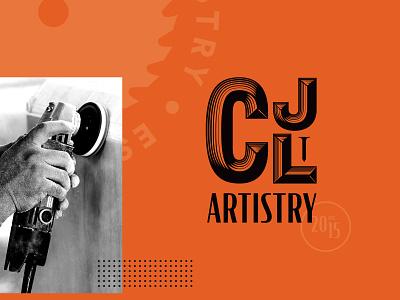 CJL Branding orange illustration lettering woodworking toronto vector typography branding logo