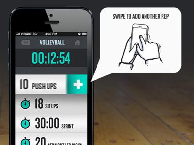 Active Workout - Add Rep app iphone app design