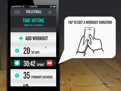 Edit Workout   Duration app iphone app design