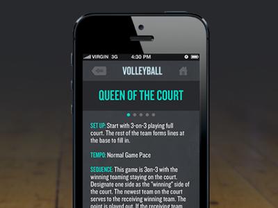 Info Page app iphone app design