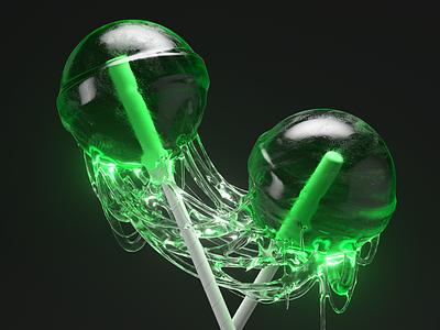 Sticky Lollipops candy halloween cinema 4d cinema4d octane render octanerender octane 3drendering 3drender 3d