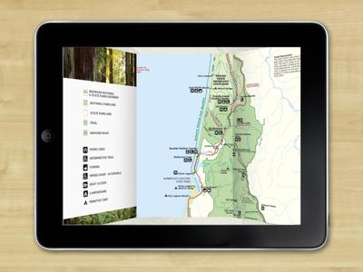 Redwood Inside Map app brochure