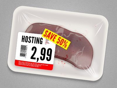 Meat Hosting price tag packaging