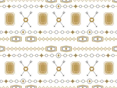 Pattern 2 pattern arrow gem 2-color simple