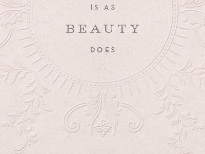 Floral Elements  - Unused floral ornamental blush beauty embossed vintage