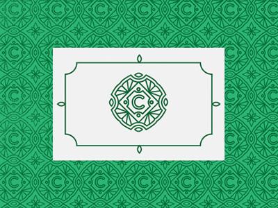 C pattern green logo mark