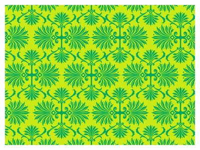 pattern pattern ornate leaves palm green