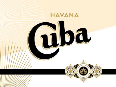 Cuba cigar label seal type havana cuba