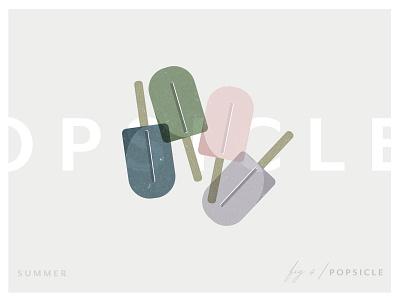 Summer | Popsicle simple illustration summer popsicle