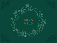 Brynhild wreath plants prairie logo