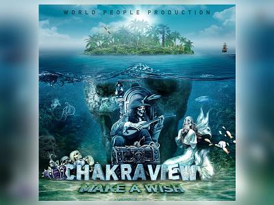 ChakraView Ep Artwork psytrance psychedelic chakraview treasure underwater skull pirate