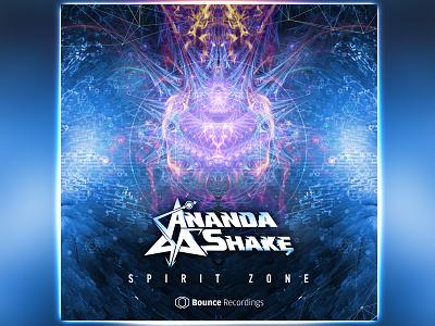 Ananda Shake Single Artwork psytrance music psychedelic zone spirit anandashake