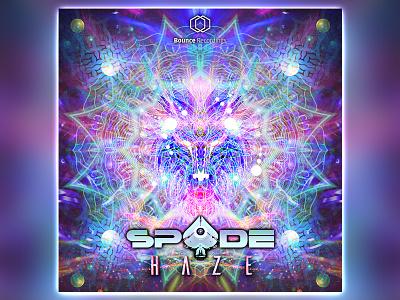 Spade single artwork psytrance psychedelic spade haze