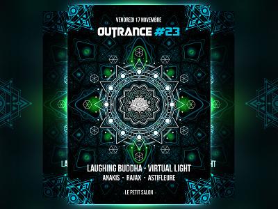 Outrance FRANCE geometry sacred 23 light. buddha virtual psychedelic psytrance lyon france outrance