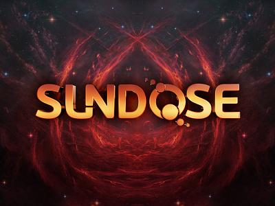 Sundose logo sun psytrance logo psychedelic sundose