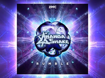 Ananda Shake - Rumble cover cinema4d 3d illustration fractal music digital psytrance design psychedelic