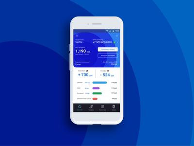 Mobile app Dashboard concept 2