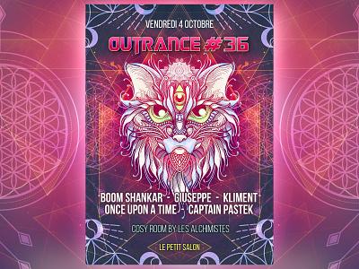 Outrance #36 artwork illustration fractal psytrance digital design psychedelic