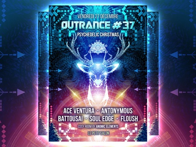 Outrance #37 Psychedelic Christmas Artwork