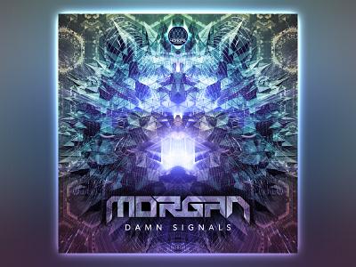 Morgan - Damn Signals cover signal 3d fractal music psytrance digital psychedelic design