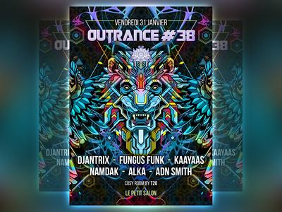 outrance 38 flyer artwork