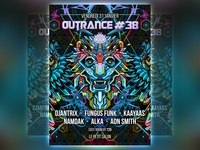 outrance 38 flyer artwork