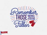 Memorial Day Lettering