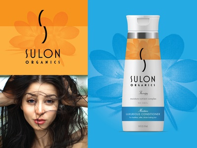 Sulon Conditioner package design hair salon beauty product beauty salon beauty logo typography logo branding