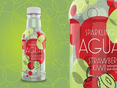 Agua Water Brand waterbottle water illustration package design typography logo branding