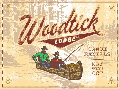 Woodtick Lodge Logos Dribble 15A
