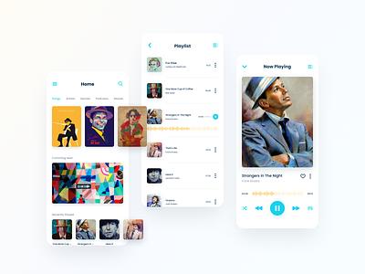 Harmonica - Music Player App application app music player music ux design ui design uiux ux graphic design ui