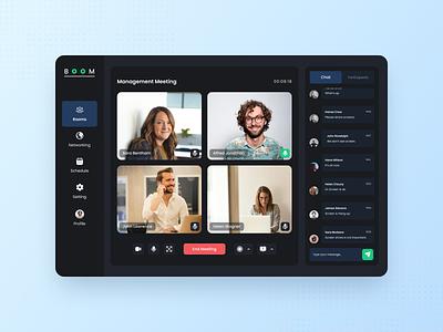 Boom - Online Meeting Website design ux design ux uiux ui ui design graphic design