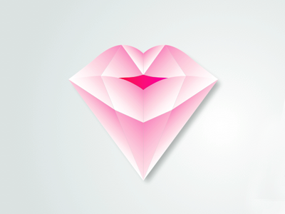 Diamond Lips Icon By Elizabeth Chiu