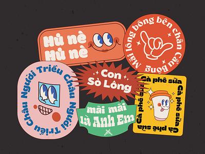 Modern Badges typogaphy stickers badges retro