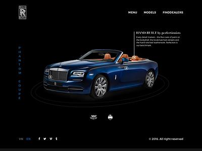 [ Practice Project ] Rolls Royce Phantom Coupé ui design webdesign