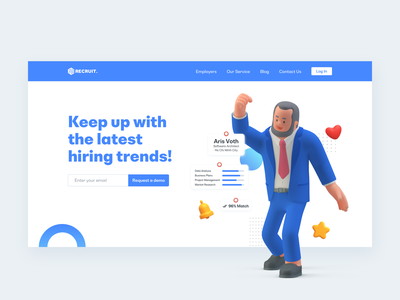 Recruit – Hero Banner hiring recruitment ui banner webdesign