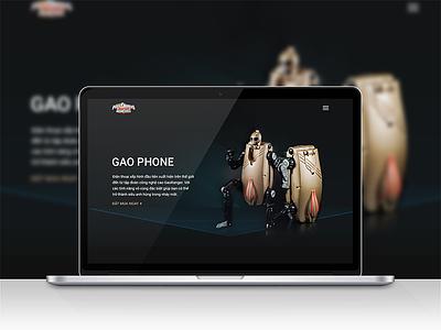 Gaophone website firstshot webdesign