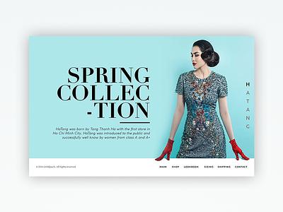 Ha Tang FH fashion webdesign banner