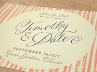 Save the Dates- Letterpressed!