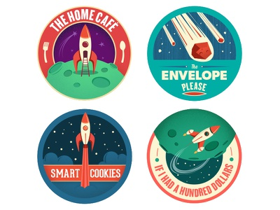 Launchpad Badges 1 through 4 launchpad space rocket badges stickers logos activities children