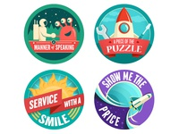 Launchpad Badges 5 through 9
