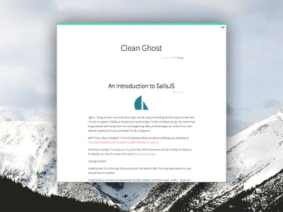 Clean Ghost Blog Template ghost blog ui clean simple
